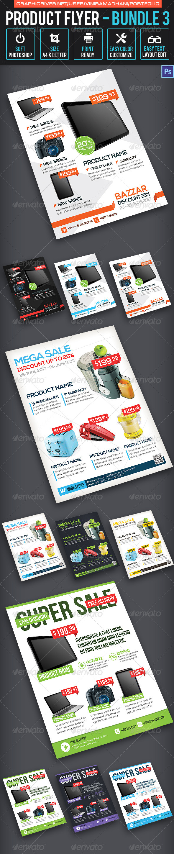 GraphicRiver Product Promotion Flyer Bundle 3 7325555