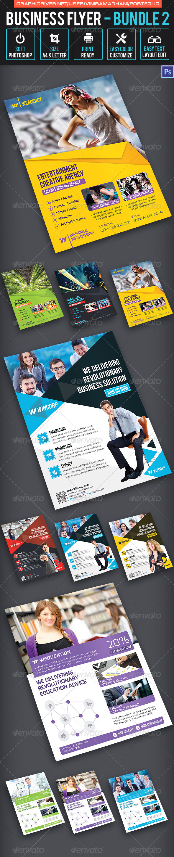 GraphicRiver Business Flyer Bundle 2 7325578