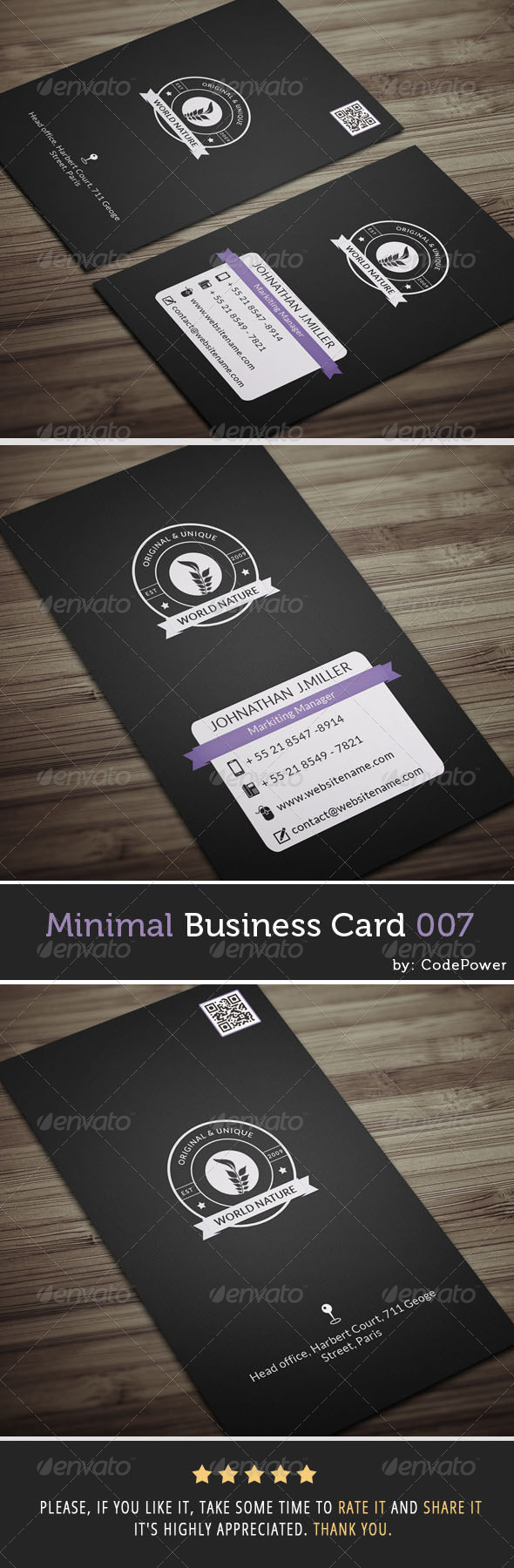 GraphicRiver Minimal Business Card 007 7313190