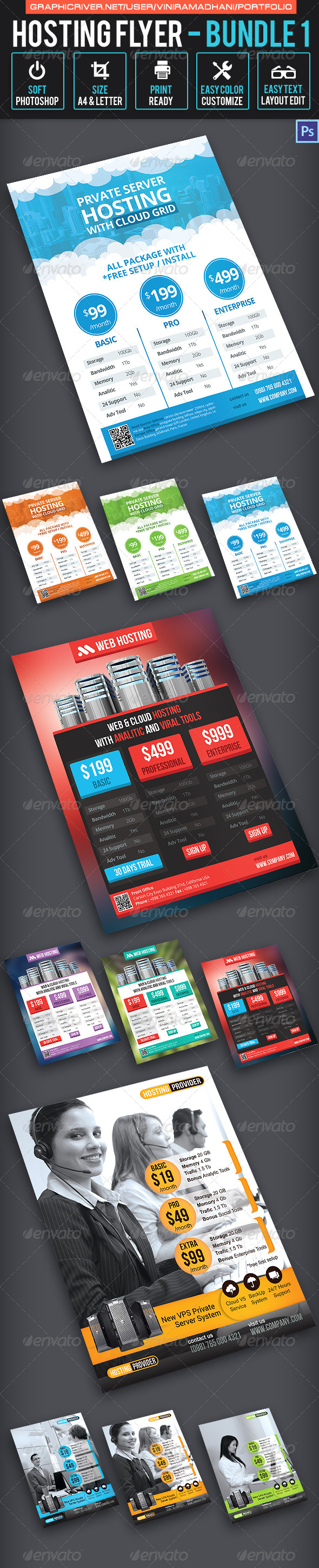 GraphicRiver Hosting Flyer Bundle 1 7325639