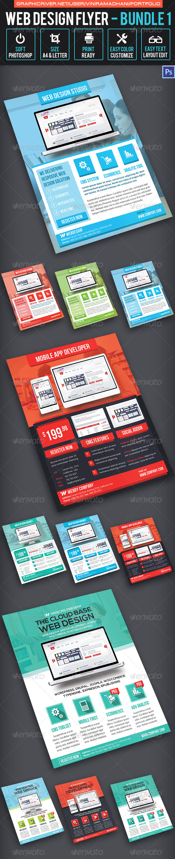 GraphicRiver Web Design Flyer Bundle 1 7325716