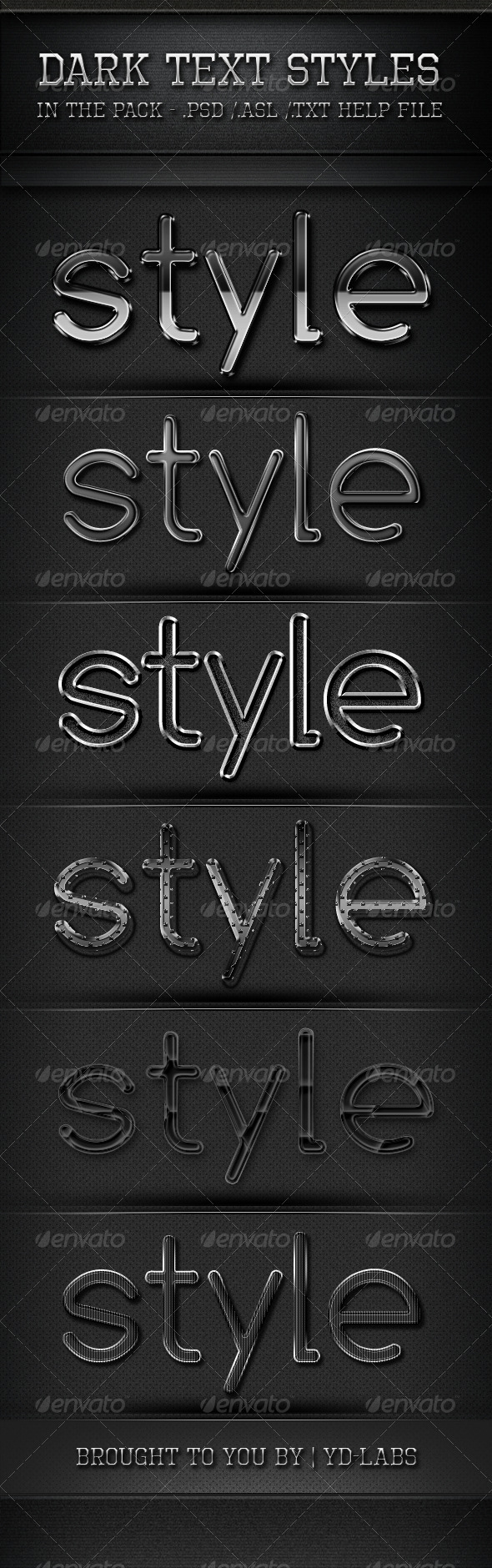 GraphicRiver Dark Text Styles 760016