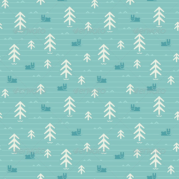 GraphicRiver Seamless Pattern of Forest 7326014