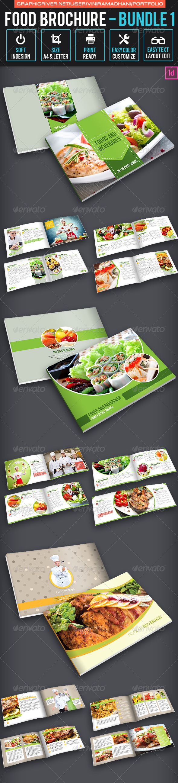 GraphicRiver Food Brochure Bundle 1 7326015