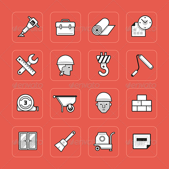 GraphicRiver Construction Icons Set 7326017