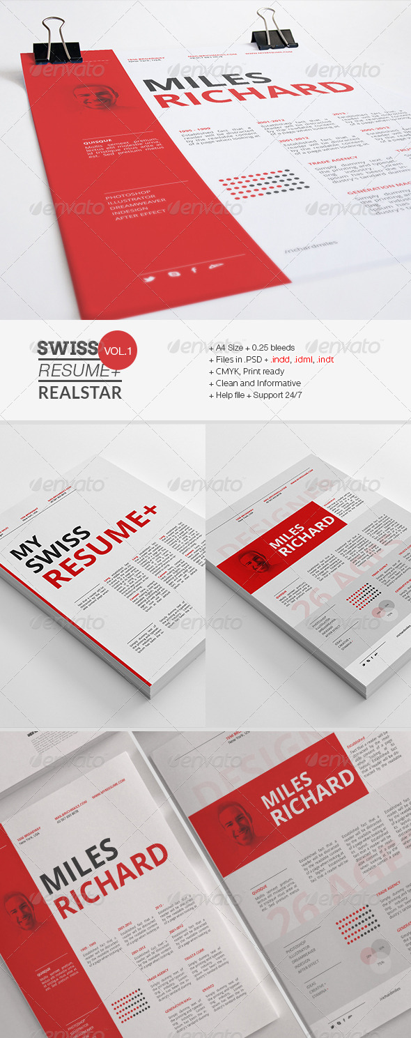 GraphicRiver Swiss Resume& 7326063