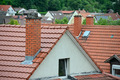 Tile roof with a chimney - PhotoDune Item for Sale