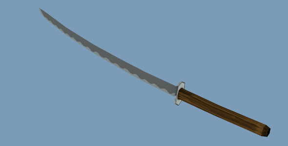 3DOcean Low poly Samurai Sword 7326131