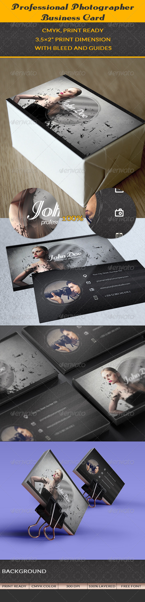 GraphicRiver Photographer Business Card 7326156
