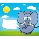 Cute Elephant Cartoon - GraphicRiver Item for Sale