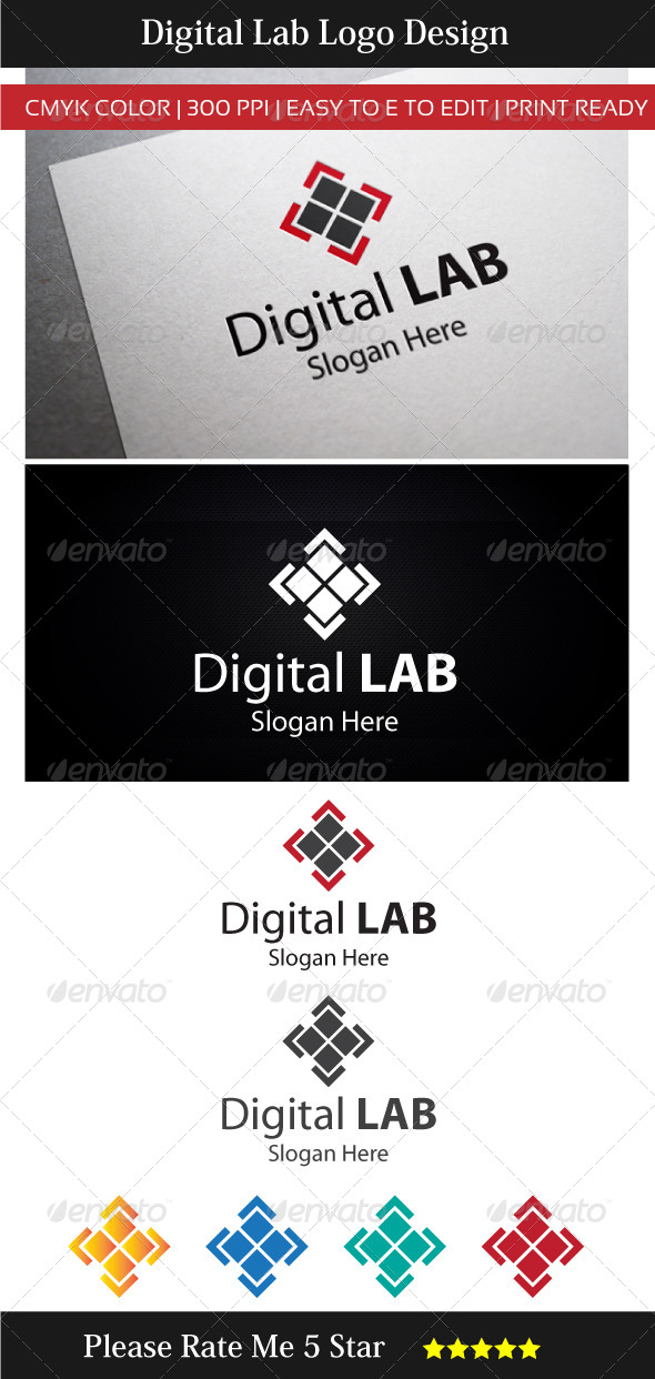 GraphicRiver Digital Technology Lab Logo 7326407