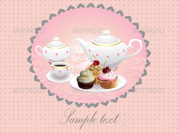 GraphicRiver Cake and Tea 7326491