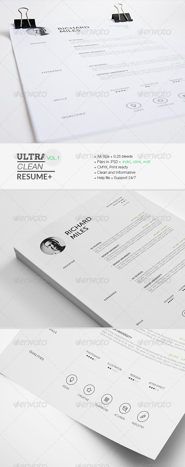 GraphicRiver Ultra Clean Resume 7326572