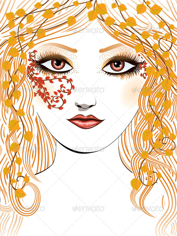 GraphicRiver Autumn Girl Face 7326574