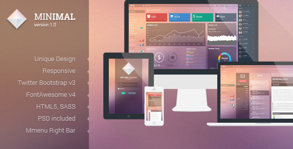 ThemeForest Minimal Responsive Admin Template 7326575