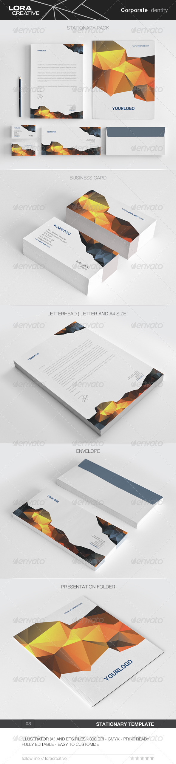 GraphicRiver Modern Stationary Pack 03 7326873