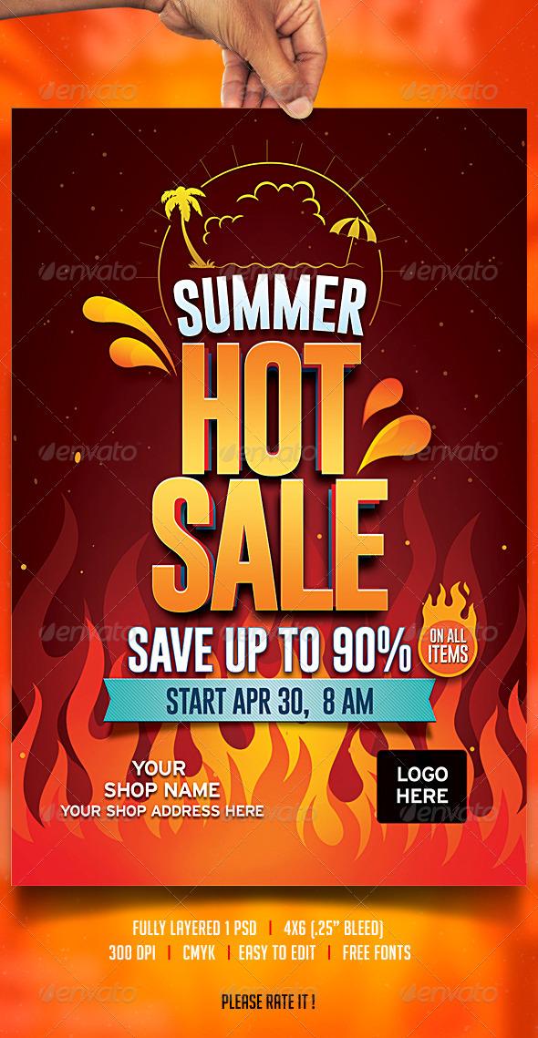 GraphicRiver Summer Sale Flyer 7327102