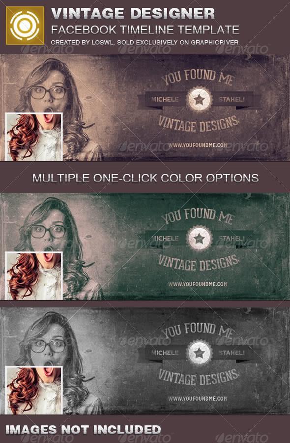 GraphicRiver Vintage Designer Facebook Timeline Cover Template 7327241