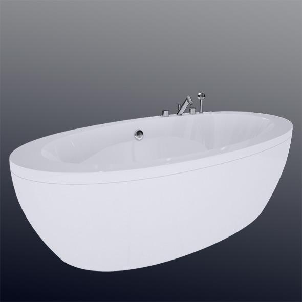 3DOcean Laufen Il Bagno Alessi One Bathtub 24197.0 7327684