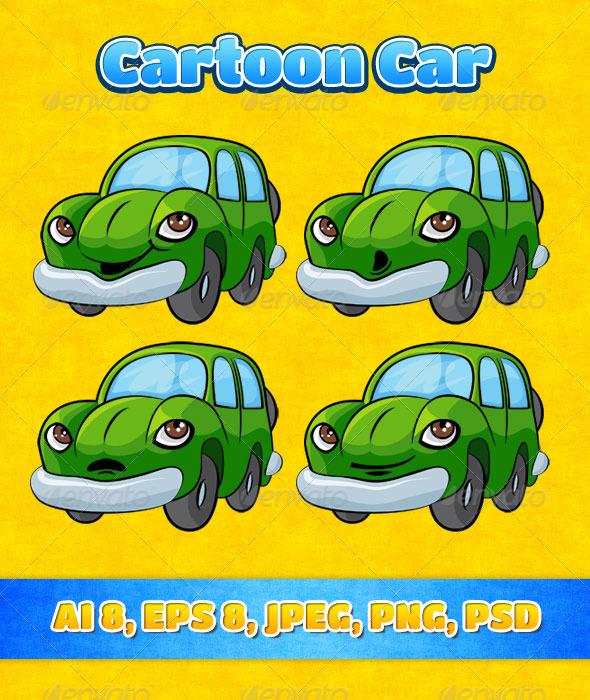 GraphicRiver Cartoon Car 7327751