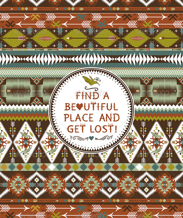 GraphicRiver Hipster Seamless Aztec Pattern 7327795