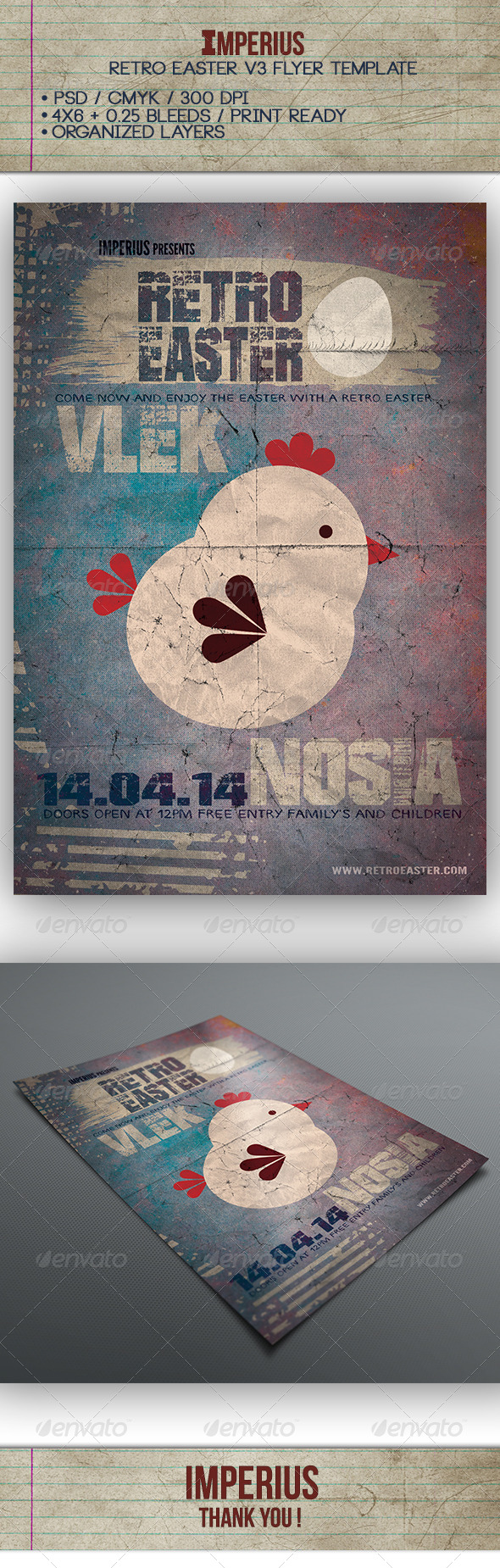 GraphicRiver Retro Easter V3 7327815