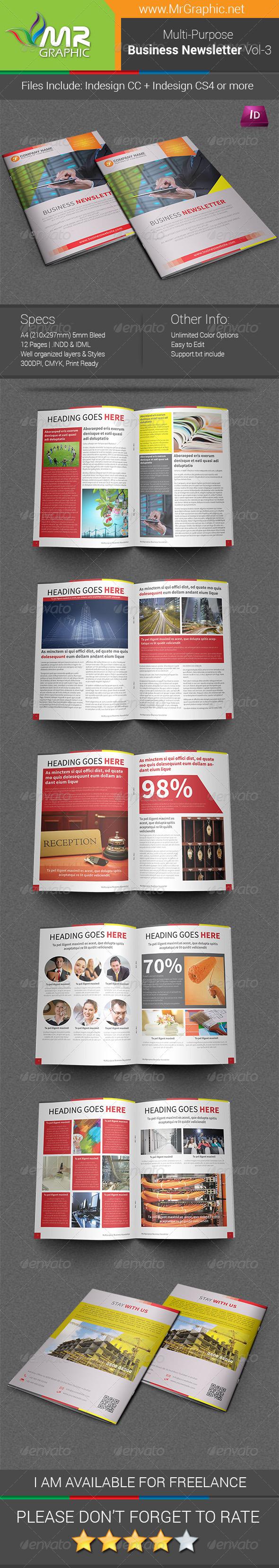 GraphicRiver Multipurpose Business Newsletter Template Vol-03 7327816