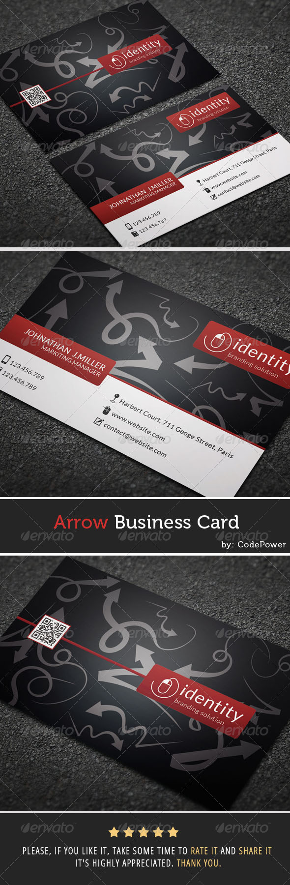 GraphicRiver Arrow Business Card 7328014