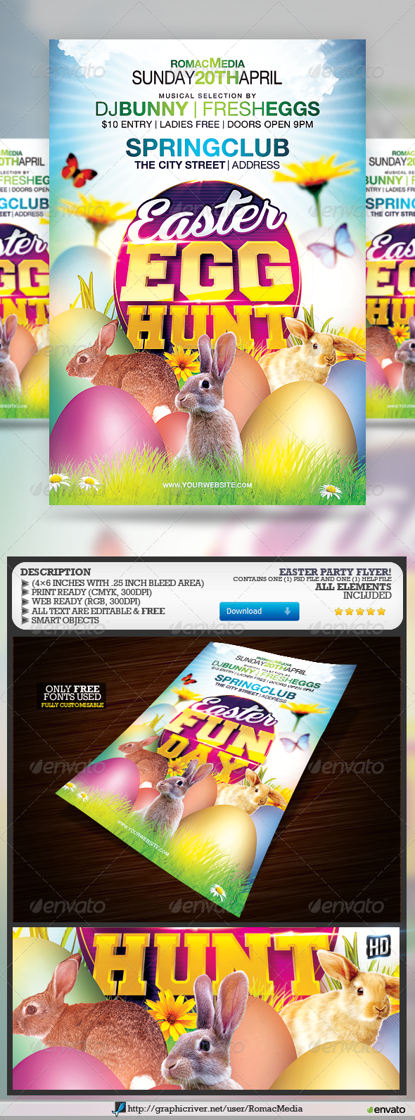 GraphicRiver Easter Egg Hunt Fun Day 7328065