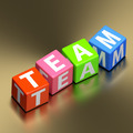 Teamwork concept - team word on colorful toy blocks - PhotoDune Item for Sale