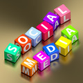Social media words on colorful toy blocks - PhotoDune Item for Sale