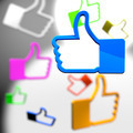 Social media concept - thumb up icons - PhotoDune Item for Sale