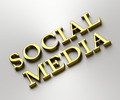 Social media concept - Social media words made from gold - PhotoDune Item for Sale