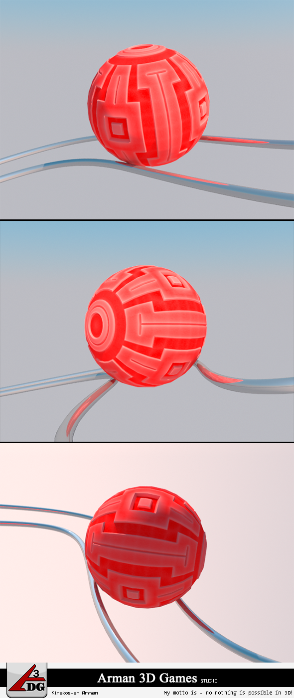3DOcean Roll Ball red 7328326