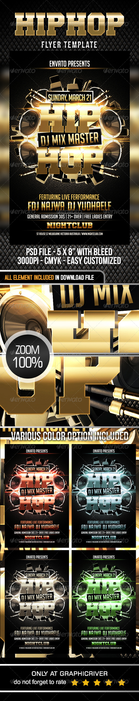 GraphicRiver Hip Hop Flyer Template 7328384