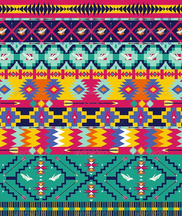 GraphicRiver Seamless Colorful Aztec Pattern 7328422