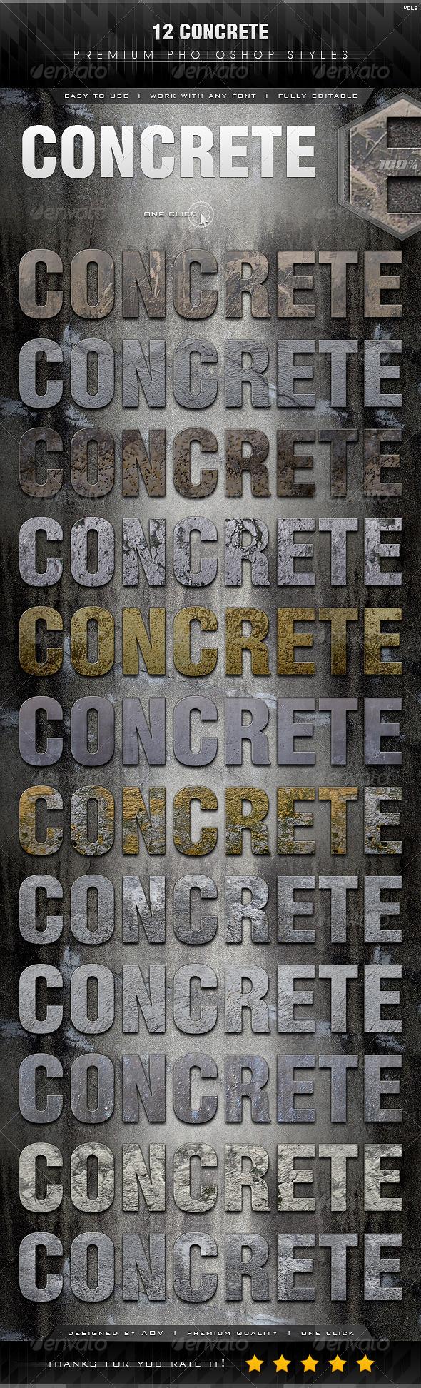 GraphicRiver 12 Concrete Styles Vol.2 7328446