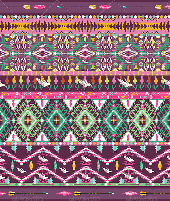 GraphicRiver Seamless Colorful Aztec Geometric Pattern 7328732
