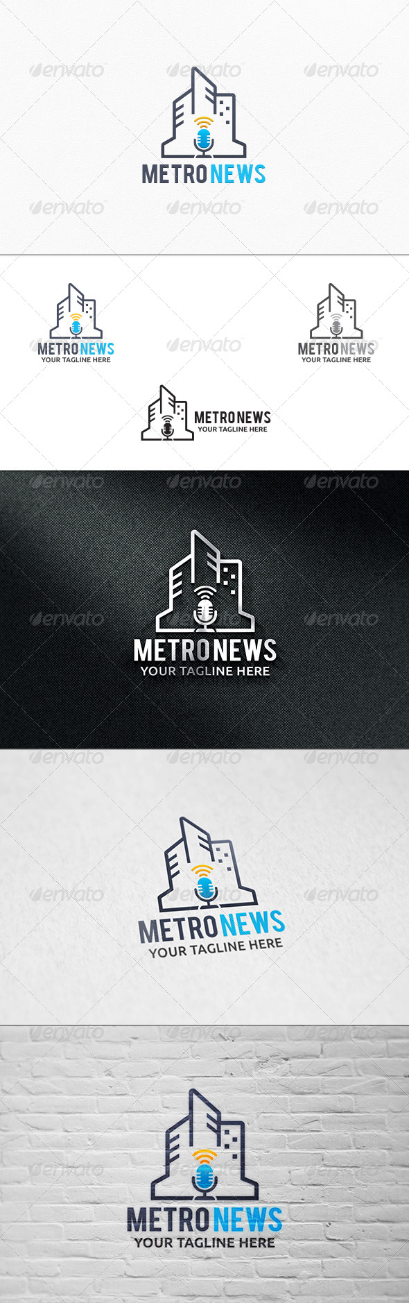 GraphicRiver Metro News Logo Template 7329110