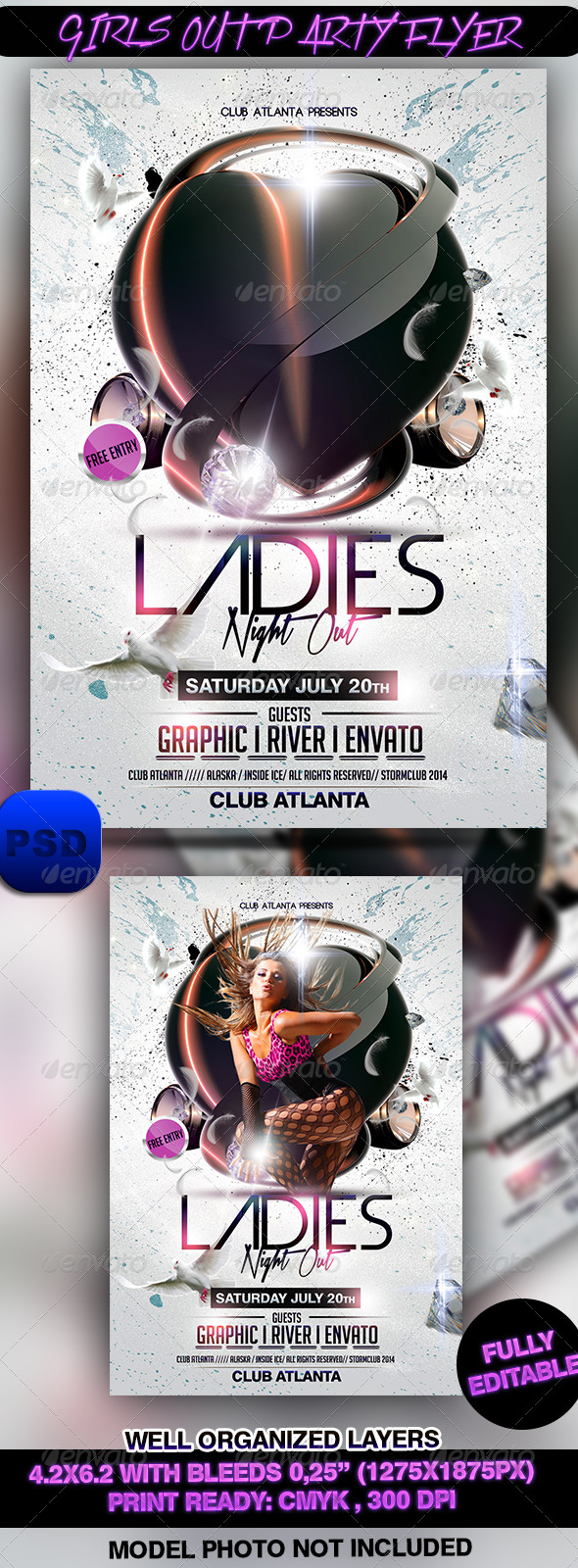 GraphicRiver Girls Out Party Flyer 7329451