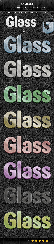 GraphicRiver 3D Premium Glass Styles 7329686