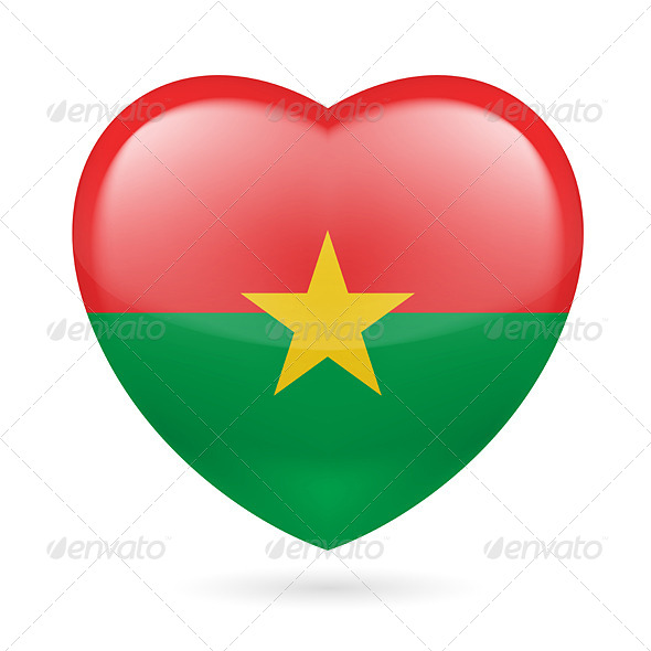 GraphicRiver Heart icon of Burkina Faso 7329688