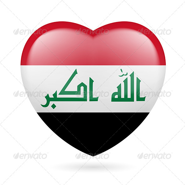 GraphicRiver Heart Icon of Iraq 7329689