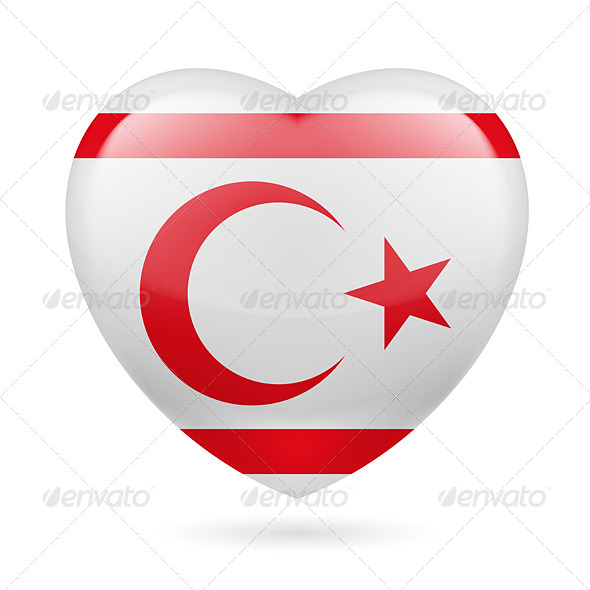 GraphicRiver Heart icon of Northern Cyprus 7329693