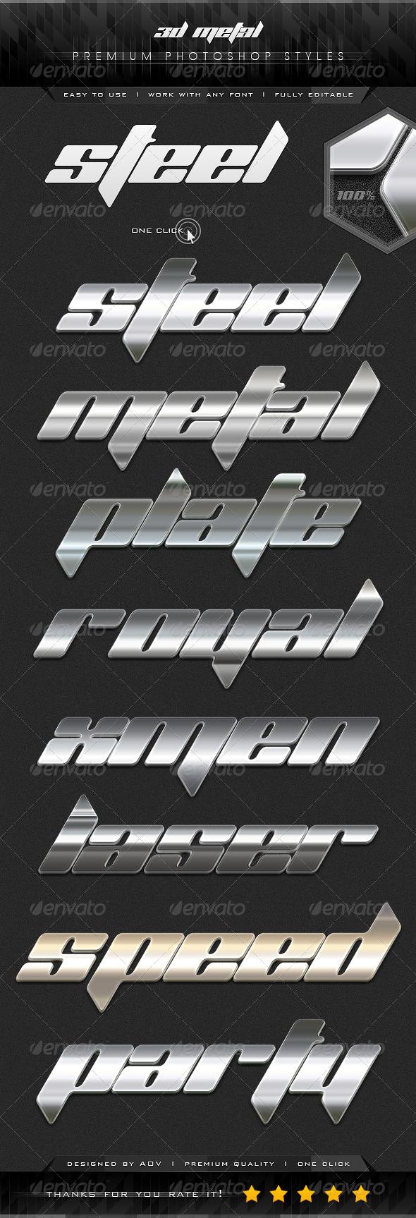 GraphicRiver 3D Premium Metal Styles 7330000