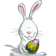 Easter Bunny Holding an Egg - GraphicRiver Item for Sale