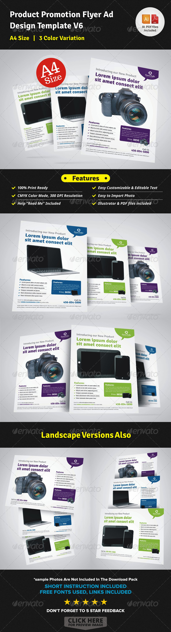 GraphicRiver Product Promotion Flyer Ad Design V6 7328015