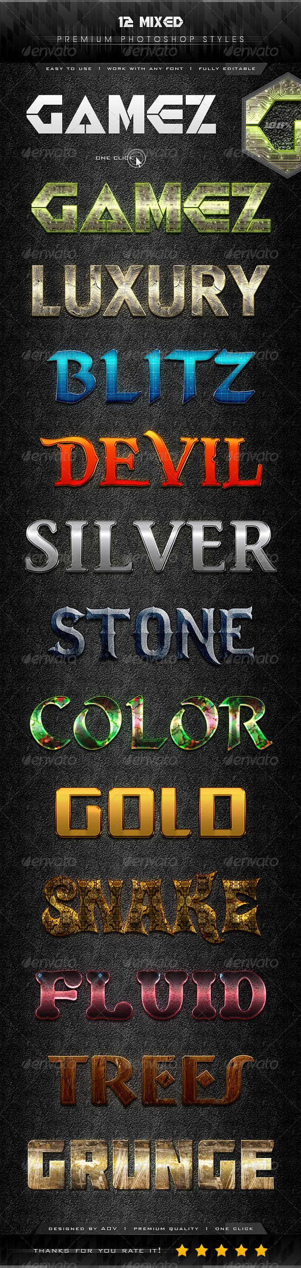 GraphicRiver 12 Mixed Text Effect Styles 7331277