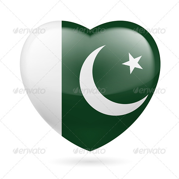 GraphicRiver Heart icon of Pakistan 7331722