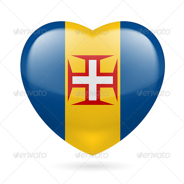 GraphicRiver Heart Icon of Madeira 7331809